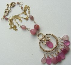 Pink Sapphire Necklace by BellaBerlinJewels