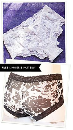 Rosy Ladyshorts: Free Downloadable Lingerie Pattern designed by Amy Chapman for Cloth Habit.