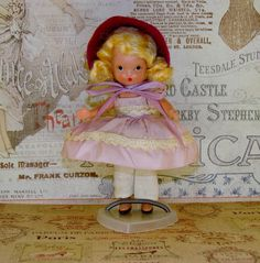 NANCY ANN STORYBOOK Doll-# 121 He Loves Me-He Loves Me Not-Frozen Leg Bisque-Circa 1940's-Box, Pamphlet, Free Gift Included-Great Condition by TheShabbyJean on Etsy https://www.etsy.com/listing/464831652/nancy-ann-storybook-doll-121-he-loves-me