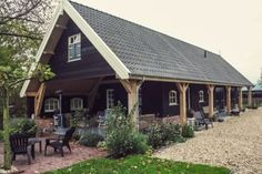 Eichenfeldscheune - V & S Authentic Building - Home - Anbau Style At Home, Warehouse Home, Barn Kits, Build Your Own House, Round House, Wooden House, Black House, Rustic Farmhouse, Exterior Design