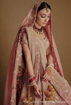 Anamika Khanna Lehangas Indian Bridal Outfits, Indian Bridal Fashion, Bridal Dresses, Wedding Outfits, Pink Lehenga, Lehenga Choli, Lehnga Dress, Sari, Desi Wedding