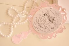 Fairytale Princess Mirror Invitation  ONE by PaperCandee on Etsy, $4.75