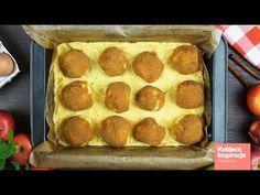 Do miski przesiewamy mąkę ,dodajemy proszek do pieczenia, jajko, serek homogenizowany, oraz margarynę . Mieszamy wszystkie składniki. Przekładamy na stolnicę i wyrabiamy krótko ciasto .Dzielimy je na dwie części. Na ... Muffin, Breakfast, Food, Pineapple, Morning Coffee, Essen, Muffins, Meals, Cupcakes