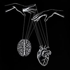 Heart and Brain Drawings. Click the image, for more art by Evelyn Lorenz. Black Phone Wallpaper, Sad Wallpaper, Galaxy Wallpaper, Cool Black Wallpaper, Black Aesthetic Wallpaper, Aesthetic Iphone Wallpaper, Aesthetic Wallpapers, Aesthetic Art, Aesthetic Pictures