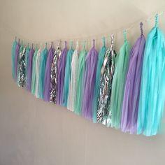 Tassel Garland Mermaid Braids Pastel Tissue by TheSugarStopCo