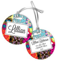 Bohemian Luggage Tags