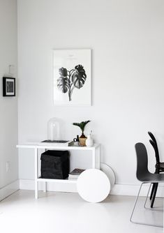Ikea Trendig Occasional Table painted white | a merry mishap