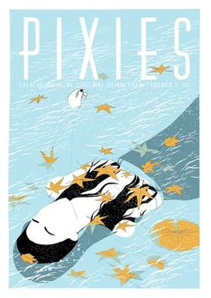 Pixies concert gig poster art