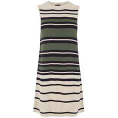 Warehouse Stripe Swing Dress, Multi ($70) ❤ liked on Polyvore featuring dresses, trapeze dress, striped dress, black midi dress, midi dress and striped maxi dress