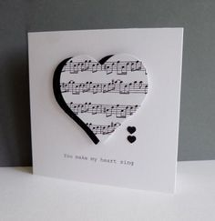 Music of Love by sistersandie – Cards and Paper Crafts at Splitcoaststampers – Scrapbooking Stampin Up Karten, Stampin Up Cards, Musical Cards, Valentine Love Cards, Music Paper, Heart Cards, Paper Cards, Creative Cards, Homemade Cards