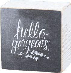 Item # 25055 | Chalk Sign - Gorgeous | Primitives by Kathy