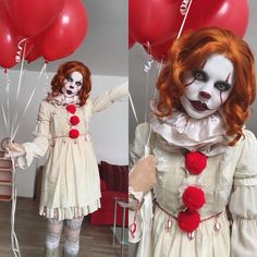 """7,722 Likes, 95 Comments - The girl with the raven tattoo (@faerie_blossom) on Instagram: """"Time to float  . . . . . . . . . #cosplay #cosmodel #horrorcosplay #clown #horrorclown #pennywise…"""""""