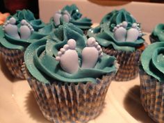 Boy Baby Shower. Cupcakes.