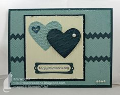 Cool blue valentine's day card made by my friend Rita