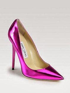 High heel purple shoes