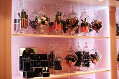 Cool idea on how to display ur makeup brushes & keep them dust free...glass jars w/ glass lids!