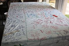 Thanksgiving tablecloth. Oh my word. Doing this!
