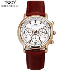 Luxury Ladies Genuine Leather/Water Resistant Watch - Differnet Colors Available !