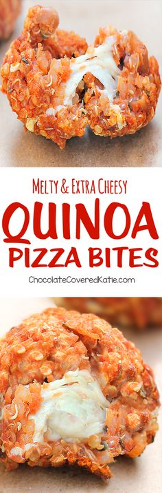 Melty, addictive quinoa appetizers that are delicious and good for you! @choccoveredkt