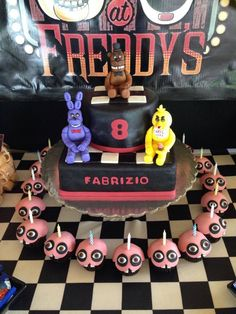 Five nights at Freddy's cake and cupcakes