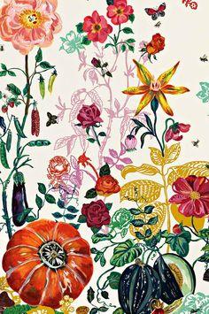Beautiful flowery wallpaper