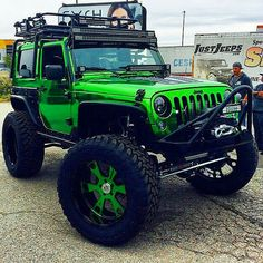 Good morning my #jeeples check out this incredible #jk #jeep. This is defiantly one of a kind.