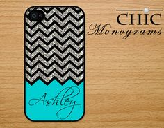 Awesome iPhone 4s Case via Chic Monograms via Etsy