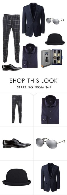"""""""Untitled #9"""" by zehra-okic ❤ liked on Polyvore featuring Vivienne Westwood Man, BOSS Hugo Boss, Paul Smith, Prada, kangol, Lands' End, The Art of Shaving, men's fashion e menswear"""