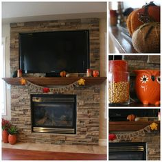 Fall DIY Decorating | Love Create Celebrate #fall #mantle #autumn