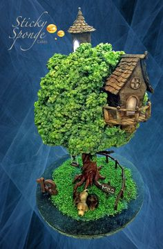 Treehouse cake by StickySponge
