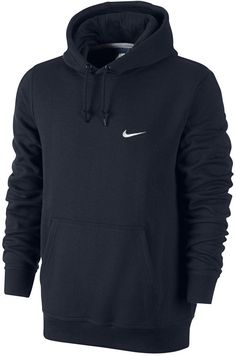 The Nike Club Swoosh Men's Hoodie has an incredibly soft fleece interior for warmth and an adjustable, fully lined hood for custom coverage. Fully lined hood with drawcord for warmth and comfortable coverage Brushed-fleece interior for a soft feel against the skin Rib cuffs and hem for a snug fit Kangaroo pocket for storage Body: Cotton/polyester