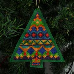 Fair Isle Inspired Christmas Tree #1