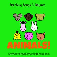 Animal songs and rhymes collage