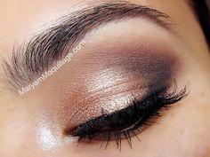 "Daytime Smokey using UD Naked 2 YDK -- lid Chopper -- center lid Tease -- crease Busted -- lower lash line Blackout -- outer ""v"" Verve -- inner corner Foxy -- brow bone. Makeup tips Kiss Makeup, Love Makeup, Makeup Inspo, Makeup Inspiration, Makeup Tips, Beauty Makeup, Makeup Looks, Hair Beauty, Plum Makeup"