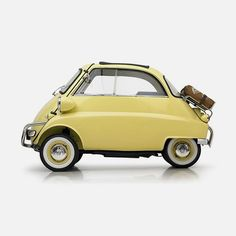 Lemon yellow BMW Isetta from 1958!