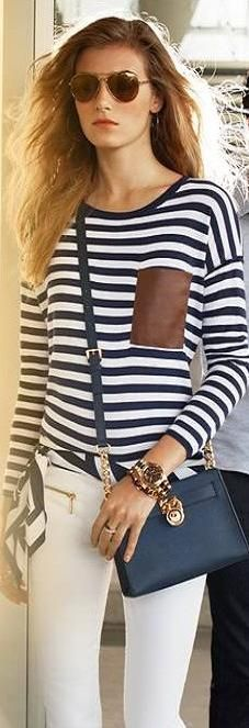 navy & white - the classic cool look