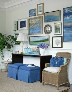 Coastal Home:  Groundworks  An area rug can create a special focus, add color to a room, provide a base for furniture, and define a space.