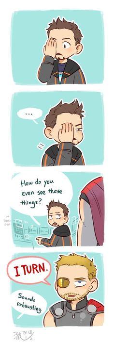 He turns [Spoiler for Thor Ragnarok]