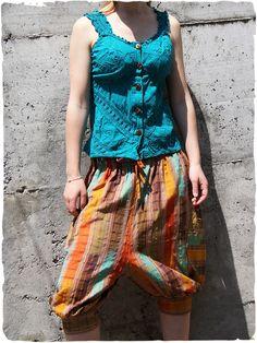 #Pantaloni Dory Bellissimo #pantalone con cavallo basso, comoda cinta elastica #modaetnica #ethnicalfashion #lamamita #moda #fashion #italianfashion #style #italianstyle #modaitaliana #lamamitafashion #moda2016 #fashion2016 #pantaloni #spring #springfashion #summerfashion #trousers #ethnictrousers