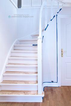 interiør, interior design, inredning, inreda, trapp, trappen, trappoppgang, trappnedgang trappeoppgang, trappenedgang, trappegang, trapperom, stairs, male trapp, painting the stairs
