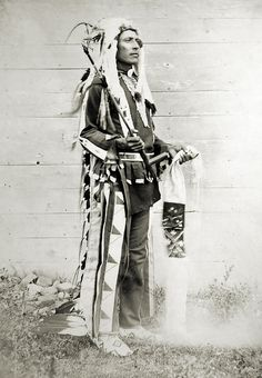 Buffalo Tail. Born 1872. Assiniboine. Photo taken at Fort Belknap, Montana, 1899