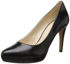 Nine West Women's Beautie Leather Dress Pump,Black/Black,8.5 M US
