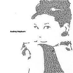 Beautiful Audrey Hepburn rhinestone transfer