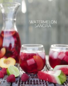 Ingredients  1 (750 ml) bottle crisp dry Rosé 3 tablespoons Triple Sec 3 tablespoons agave nectar 1 cup raspberries 1/2 cup cubed watermelon 1/2 peach, thinly sliced 5 to 6 thin slices lime