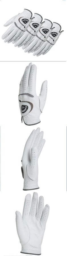 Golf Gloves 181135: Callaway® Mens 4-Pack Leather White Golf Gloves To Be Worn In Left Hand -> BUY IT NOW ONLY: $42.99 on eBay!