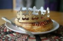 "For an extra special Epiphany treat, bake this Galette des Rois recipe. Also referred to as king cake, it's made of homemade almond cream filling sandwiched between two delicate, buttery layers of puff pastry. In France, it's customary to nestle a fava bean, or le feve, inside the rich filling and crown the finder as the ""king"" or ""queen"" of the evening."