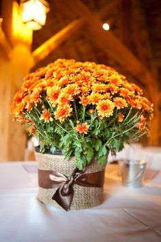 Perfect floral centerpiece for a fall wedding!{SweetCheeks Photography; Floral Designer: Enders Flowers}