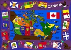 Flags of Canada Rug
