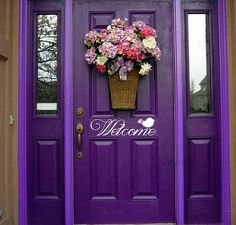 Purple Color Front Door Ideas would you do a bold purple door for the front of your house? would you do a bold purple door for the front of your house? Purple Front Doors, Purple Door, Front Door Colors, Purple Haze, Shades Of Purple, Lilac, Bright Purple, Purple Flowers, Deep Purple