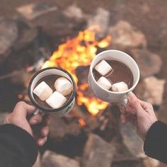 Hot coco around the campfire. Is there anything better? Pro Tip: Add Baileys to give your hot chocolate a little kick. Cheers!